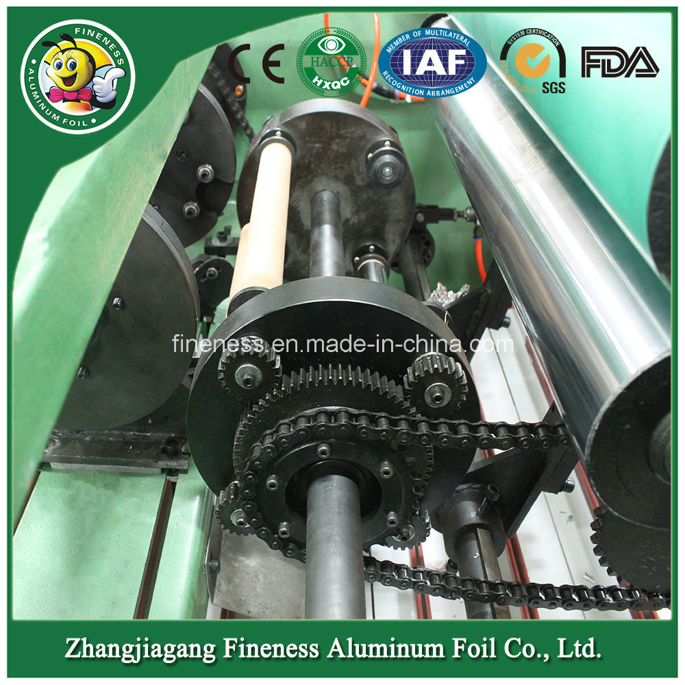Aluminum Foil Silicon Paper and PE Rewinding and Cutting Machine